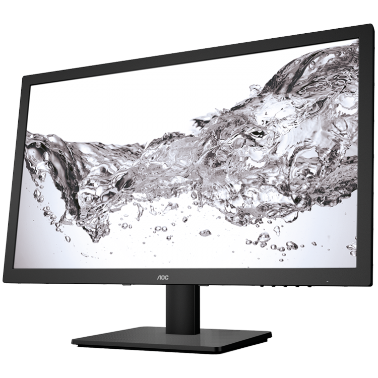 Monitor LED AOC E2475SWJ AOC Monitor LED E2475SWJ (23.6'', 16:9, 1920x1080, TFT-LCD, 250 cd/m², 20M:1, 2 ms, 170/160°, VGA, DVI-D, HDMI, 2W speakers, Tilt: -5 to +23.5°) Black, 3y