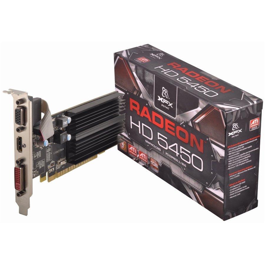 Video Card XFX HD-545X-ZKH2 XFX Video Card AMD Radeon HD 5450 650M 1GB DDR3 DP DVI VGA PCI-E