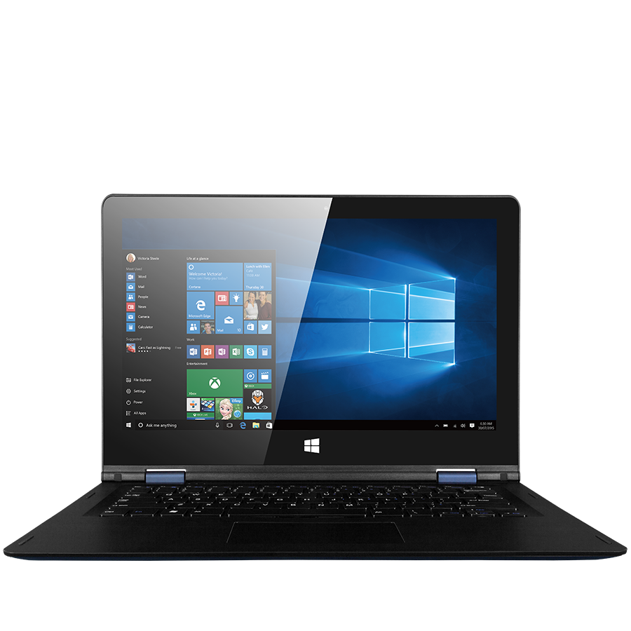 "PC Notebook Commercial PRESTIGIO PNT10130CEDBUS Prestigio Notebook Visconte Ecliptica (13.3"" IPS 1920*1080 Touch Screen, Intel Atom Quad x5-Z8300, 2GB DDR3L, 32GB SSD, camera 2 MP,10000 mAh,OS Windows 10 Home, BT, WI-FI, USB 3.0,USB 2.0, mini HDMI, micro"