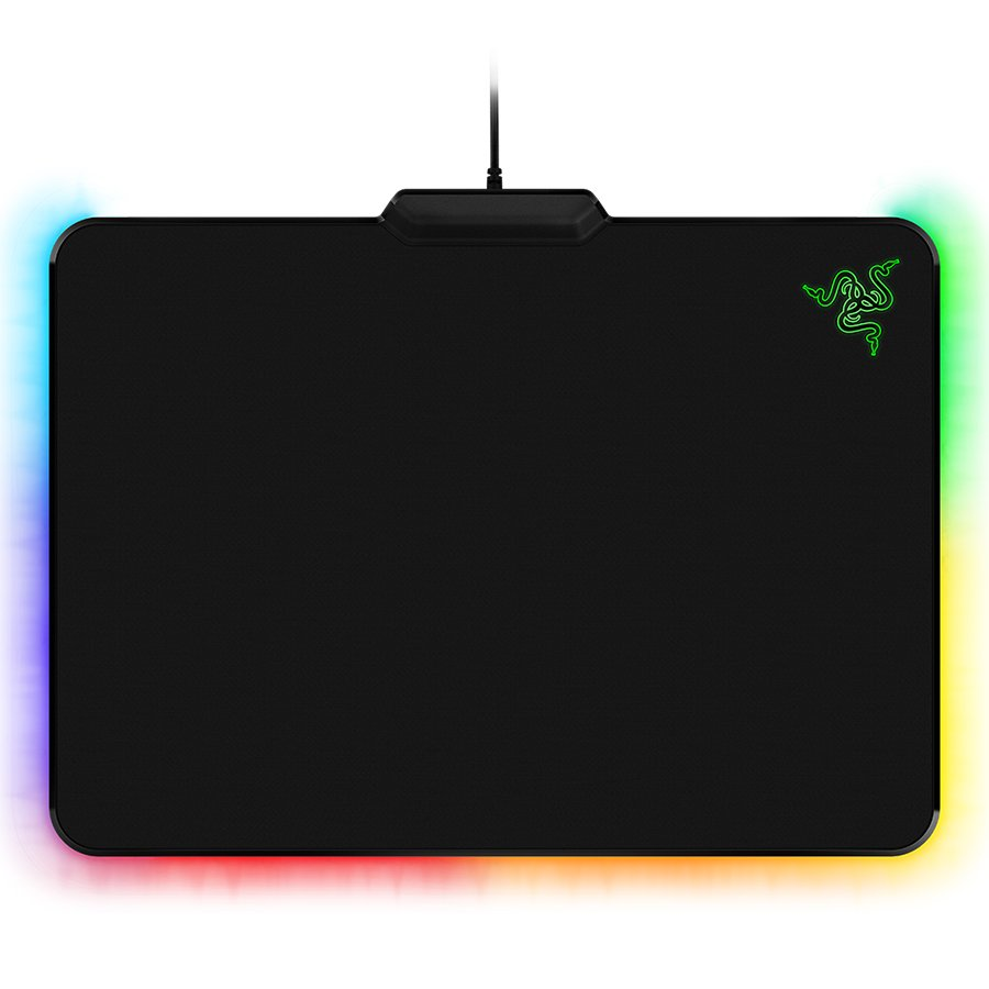 Mouse Pad RAZER RZ02-02000100-R3M1 RAZER FIREFLY CLOTH ED. 355 mm x 255 mm x 3.5mm Cloth surface for balanced gameplay, textured weave for highly responsive tracking,Chroma customizable lighting, Synapse enabled,Gold-plate,Seven-foot, lightweight, braided