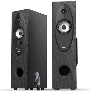 Multimedia - Speaker FENDA T-30X Multimedia Speakers F&D T-30X (2.0,Floor Standing 2x28W, 20Hz-20kHz, BT4.0/USB/SD/FM/KARAOKE/RC,LED display, Wooden, Black)