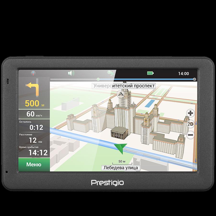 "GPS Navigator PRESTIGIO PGPS5059CIS04GBNV Prestigio GeoVision 5059 (5.0"", TFT, 480х272, Win CE 6.0, CPU MSTAR 2531A 800 MHz, 128 MB RAM, 4 GB internal, FM, 950 mAh, Dark Grey, Plastic, Navitel navigation software, preinstalled maps: Russia, Ukraine, Kazak"