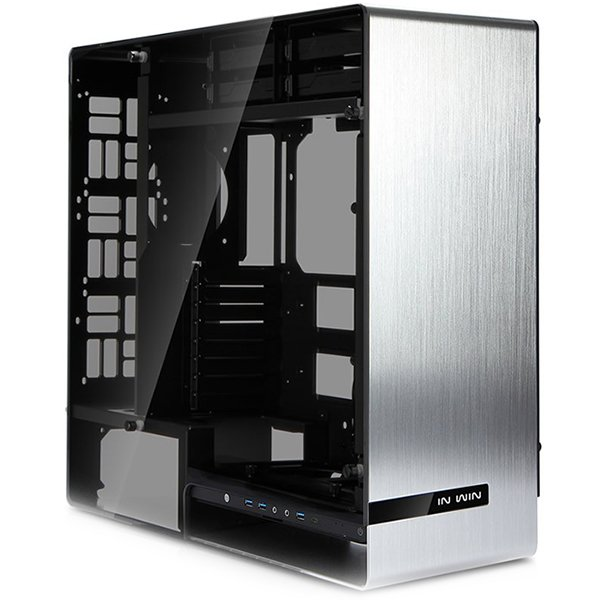 PC Chassis IN WIN 909_SILVER Chassis In Win 909 Full Tower Aluminium, Tempered Glass E-ATX, ATX, Micro-ATX, Mini-ITX, Front Ports 3xUSB 3.0 1xUSB 3.1 Type-C HD Audio,540x231x575,2x120/140 Fans: 2x120/140/1x120/3x120 or2x40/2x120/140, Radiators 1x280/1x120