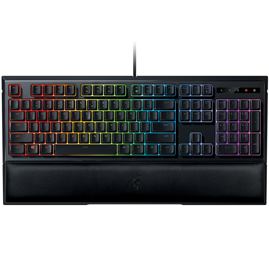 Input Devices - Keyboard Box RAZER RZ03-02040100-R3M1 Razer Ornata Chroma – Multi-color Membrane GamingKeyboard,Mid-height keycaps ,Customizable lighting With full 16.8 million colors,Ergonomic wrist rest ,Fully programmable keys with on the fly macro rec