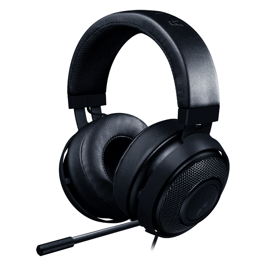 Multimedia - Headset RAZER RZ04-02050100-R3M1 Razer Kraken Pro V2 BLACK - Analog Gaming Headset,50 mm audio drivers ,Unibody aluminum frame ,Fully-retractable microphone with in-line remote,3.5 mm combined jack.