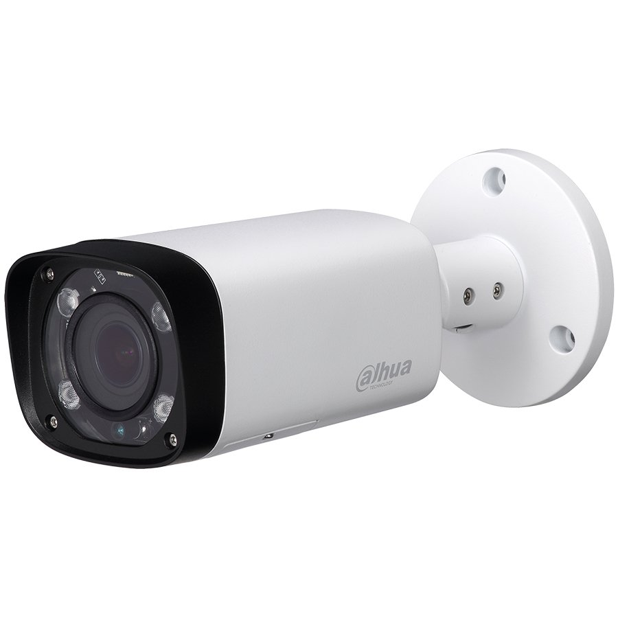 "IP Camera DAHUA ELECTRONIC HAC-HFW1200R-VF-IRE6 Dahua HD-CVI camera 2MPix , Water-proof, Day&Night, 1/2.7"" CMOS, 1920×1080 Effective Pixels, 30fps@1080P, Vari-Focal Lens 2.7-12mm, 0.05Lux/F1.4, 0Lux IR on, IP67, outdoor installation."