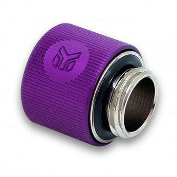 "Cooling System EKWB EKWB3831109847329 EK-ACF Fitting 10/13mm - Purple, thread: G1/4"" BSP; 4.5mm male thread length, supported tube: 3/8"" / 1/2"" ID/OD (roughly equalls 10/13mm ID/OD)"