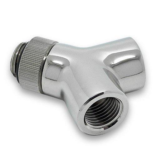 Cooling System EKWB EKWB3831109846971 EK-AF Y-Splitter 2F1M-R G1/4 - Nickel