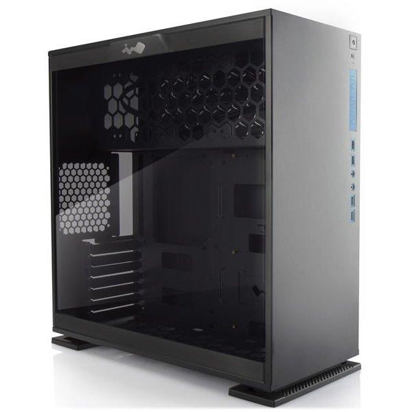 PC Chassis IN WIN INWIN_303_BLACK_AURORA Chassis In Win 303 Mid Tower ATX Aluminum SECC, Tempered Glass, ATX, Micro-ATX, Mini-ITX, Front Ports 2xUSB 3.0,2xUSB 2.0,HD Audio, 500x215x480, 1x120mm Rear Fan/120mm Radiator,3x120mm Top Fan/360mm Radiator,3x120m