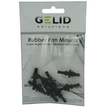Cooling System GELID SOLUTIONS RB-GR02-B RUBBER FAN MOUNTS Anti-Vibration KIT
