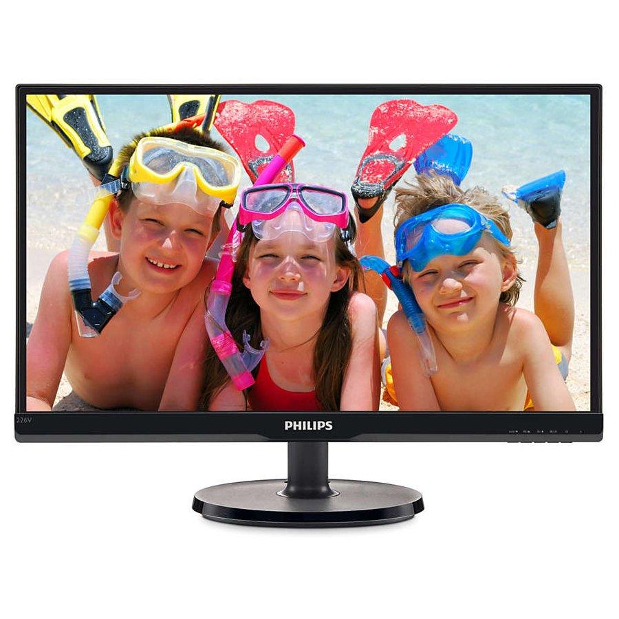"Monitor LED PHILIPS 226V6QSB6/00 Philips LCD monitor 226V6QSB6 V Line 22 (21.5"" / 54.6 cm diag.) Full HD (1920 x 1080) IPS, WLED, 178/178 vga, DVI"