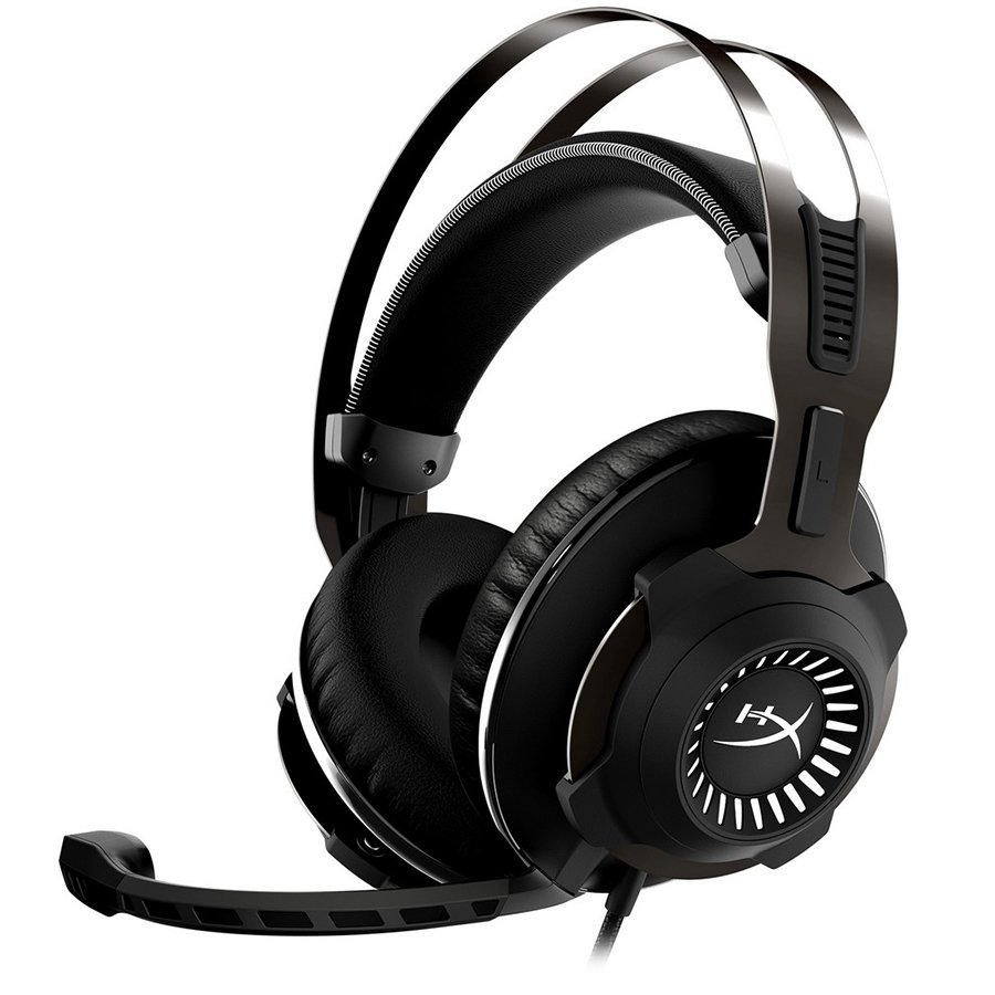 Multimedia - Headset KINGSTON HX-HSCRS-GM/EM Kingston HyperX Gaming Headset, Cloud Revolver S, Gunmetal, 50mm drivers, USB/3.5mm jack, solid steel frame,Dolby® Surround 7.1, USB Audio Control Box, headset: 1m + audio control box: 2.2m + PC extension cable