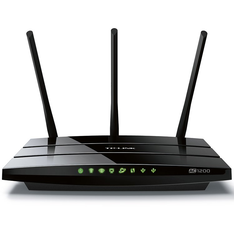 Networking - Router TP-LINK ARCHER_C1200 AC1200 Dual Band Wireless Gigabit Router, 867Mbps at 5GHz + 300Mbps at 2.4GHz, 802.11ac/a/b/g/n, 1x10/100/1000M WAN +4x10/100/1000M LAN, 2xUSB 2.0, 3х Ext Antennas