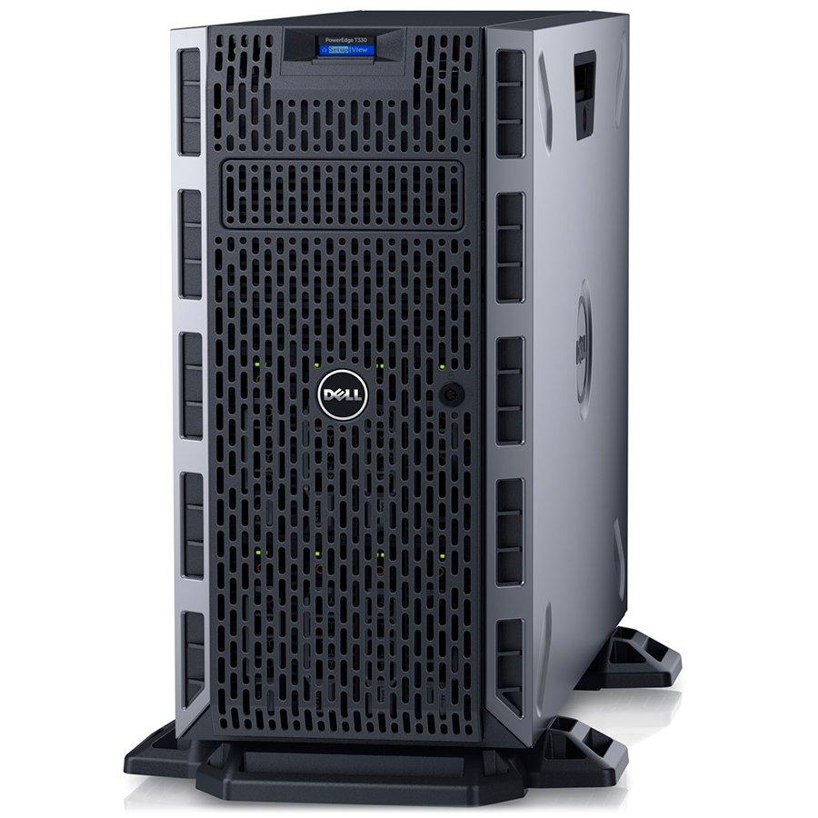 "Server DELL EMC T330E31220V58G0TH73DHP-14 PowerEdge T330,Xeon E3-1220v5 3.0GHz,Chassis with up to 8x3.5"" Hot-Plug HDD,8GB UDIMM 2133MT/s ECC,iDRAC8 Basic,no HDD(optional),PERC H730 1GB Cache,DVD+/-RW,Dual Hot-plug PSU(1+1)495W,TPM 1.2,CC,Dual Port LOM 1Gb"