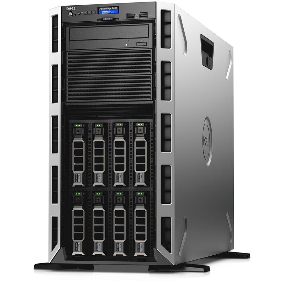 "Server DELL EMC T4301X2620V48G0TH33SHP-14 PowerEdge T430,Xeon E5-2620v4,Chassis with up to 8 3.5"" Hot Plug HDD Tower Config,8GB RDIMM 2133MT/s,iDRAC8, Basic,no HDD(optional),PERC H330 RAID Controller,DVD+/-RW,Single Hot-plug PSU(1+0)750W,TPM 2.0,Dual Port"