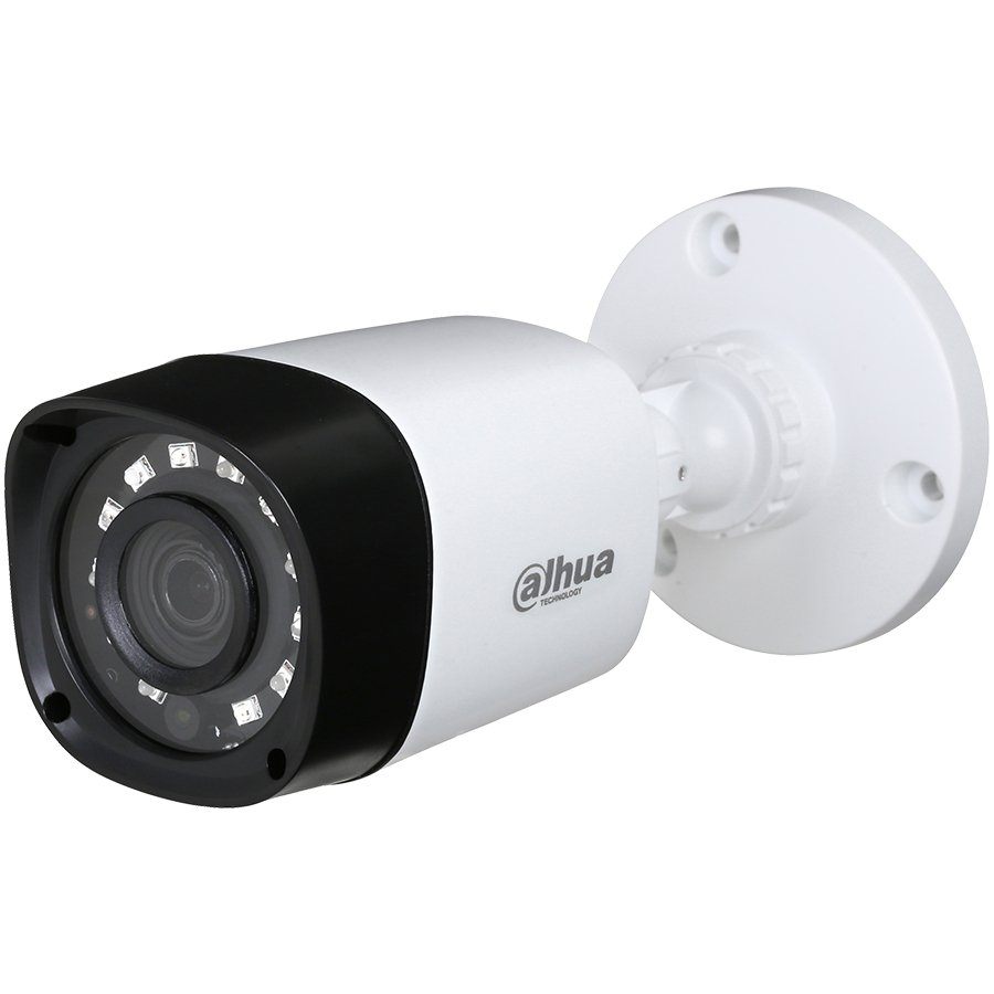 """IP Camera DAHUA ELECTRONIC HAC-HFW1200R Dahua HD-CVI Bullet camera 2MP, Day&Night, 1/2.7"""" CMOS, 1920×1080 Effective Pixels, 30fps@1080P, Focal Length 3.6 mm, 0.02Lux/F2.0, 0Lux IR on, IP67, DC12V/2.3W, outdoor installation."""