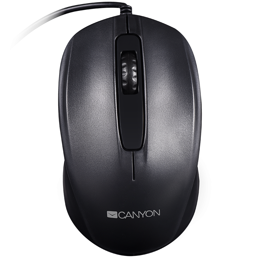 Input Devices - Mouse Box CANYON CNE-CMS01B Optical wired mice, 3 buttons, DPI 1000, Black