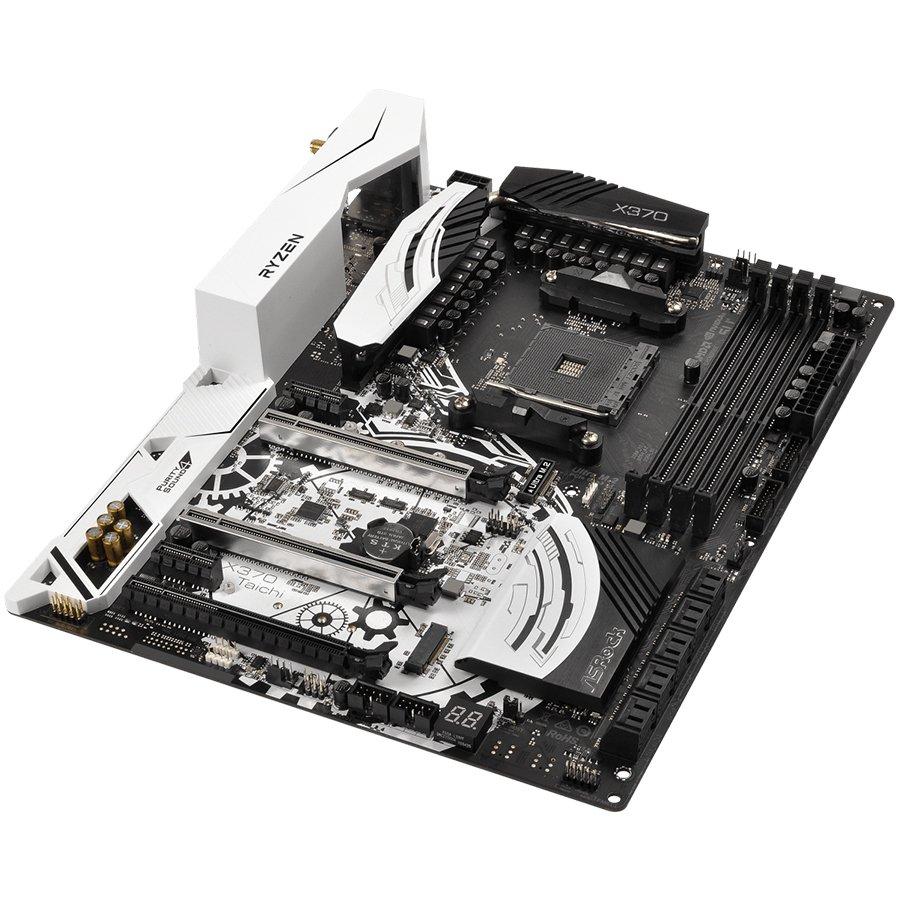 Main Board Desktop ASROCK X370_TAICHI ASROCK Main Board Desktop AM4 X370 (SAM4,4xDDR4,2xPCI 3.0x16, 2xPCI Ex1, SATA III,M2,USB3.0,GLAN) ATX Retail