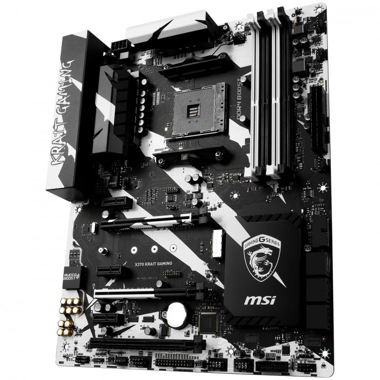 Main Board Desktop MSI X370_KRAIT_GAMING MSI Main Board Desktop X370 (SAM4, 4xDDR4, 3xPCI-Ex16, 3xPCI-Ex1, USB3.1, USB2.0 ,6xSATA III, 1xM.2, Raid, DVI-D, HDMI, GLAN) ATX Retail