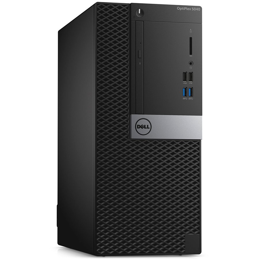 Desktop Computer DELL N008O5040MT03_UBU-14 Dell Optiplex 5040 MiniTower, Intel Core i3-6100), 4GB (1x4GB) 1600MHz DDR3, 1TB 3.5inch SATA III (7.200 Rpm), Intel HD Graphics, 16x DVD+/-RW Drive, Dell MS116 USB Optical Mouse, KB216 USB Keyboard Black, Ubuntu