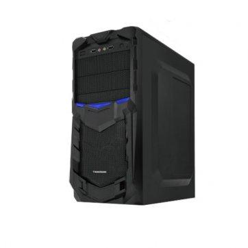 "PC Chassis TRENDSONIC TALOS-TA02A-B-BK/BU Chassis TALOS-TA02A-B-BK/BU, ATX/ MICRO ATX, 7 slots, 4 X 5.25"", 7 X 3.5"" H.D., 2 X USB2.0 / 1xUSB3.0/2 x AUDIO /, PSU 550W 12 sm, 20+4pin, 2 x IDE, 3 x SATA, 360*175*405mm, 1 x 80mm Back Black FAN /opt/., Black"