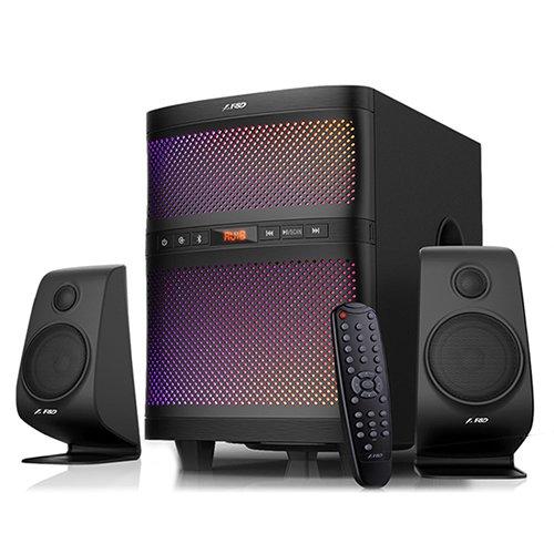 Multimedia - Speaker FENDA F580X Multimedia Bluetooth Speakers F&D F580X (2.1 Channel Surround, 17.5Wx2+35W (RMS) 260Hz~20KHzz, Subwoofer: 40Hz~110Hz, Bluetooth 4.0, USB/SD card reader, FM, digital, LED display, Black