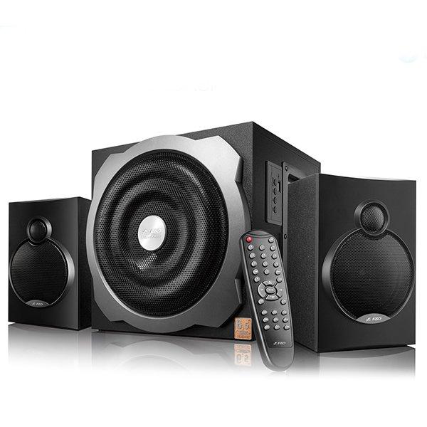 Multimedia - Speaker FENDA A521X Multimedia Bluetooth Speakers F&D A521X Bluetooth 4.0 (2.1 Channel Surround, 16Wx2+20W (RMS), 120Hz-20kHz, Subwoofer: 20Hz-120Hz, USB reader, Wooden, Black)