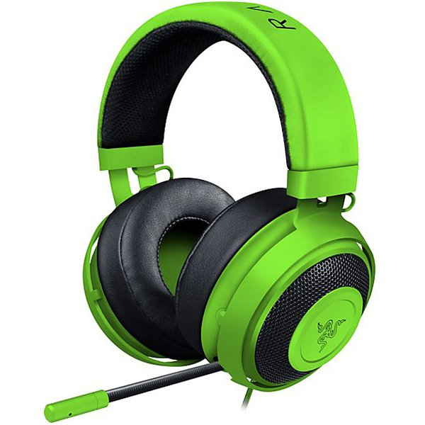 Multimedia - Headset RAZER RZ04-02050600-R3M1 Razer Kraken Pro V2 – Analog Gaming Headset – Green –OVAL Ear Cushions. 50 mm audio drivers ,Unibody aluminum frame ,Fully-retractable microphone with in-line remote,3.5 mm combined jack.