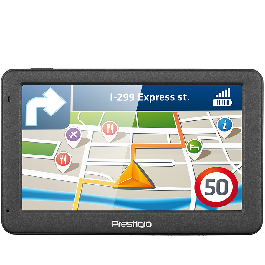 "GPS Navigator PRESTIGIO PGPS505900004GB00 Prestigio GeoVision 5059 (5.0"", TFT, 480х272, Win CE 6.0, CPU MSTAR 2531A 800 MHz, 128 MB RAM, 4 GB internal, FM, 950 mAh, Dark Grey, Plastic)"