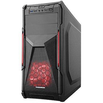 """PC Chassis TRENDSONIC CONQUEROR-CON02A-BK/BLACK_RED/550W Chassis CON02A-C/USB3.0, ATX/ MICRO ATX, 7 slots, 2 X 5.25"""", 2 X 3.5"""" H.D., 2 X 2.5"""" SSD, 3XUSB2.0+AV+1XUSB3.0 / 2 x AUDIO /, PSU 550W 12 sm, 20+4pin, 2 x IDE, 3 x SATA, 405*175*405mm, Black/Red"""