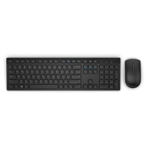 Input Devices - Keyboard Box DELL 580-ADFW-14 Dell Wireless Keyboard and Mouse-KM636 - US International (QWERTY) - Black