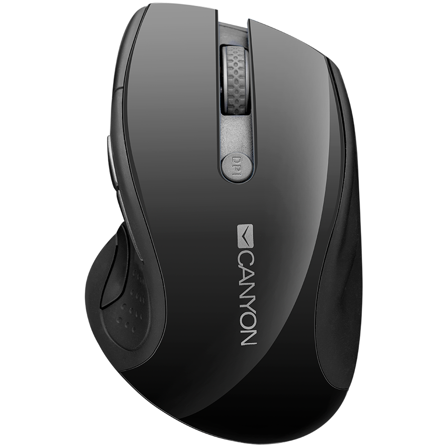 Input Devices - Mouse Box CANYON CNS-CMSW01B 2.4Ghz wireless mouse, optical tracking - blue LED, 6 buttons, DPI 1000/1200/1600, Black pearl glossy