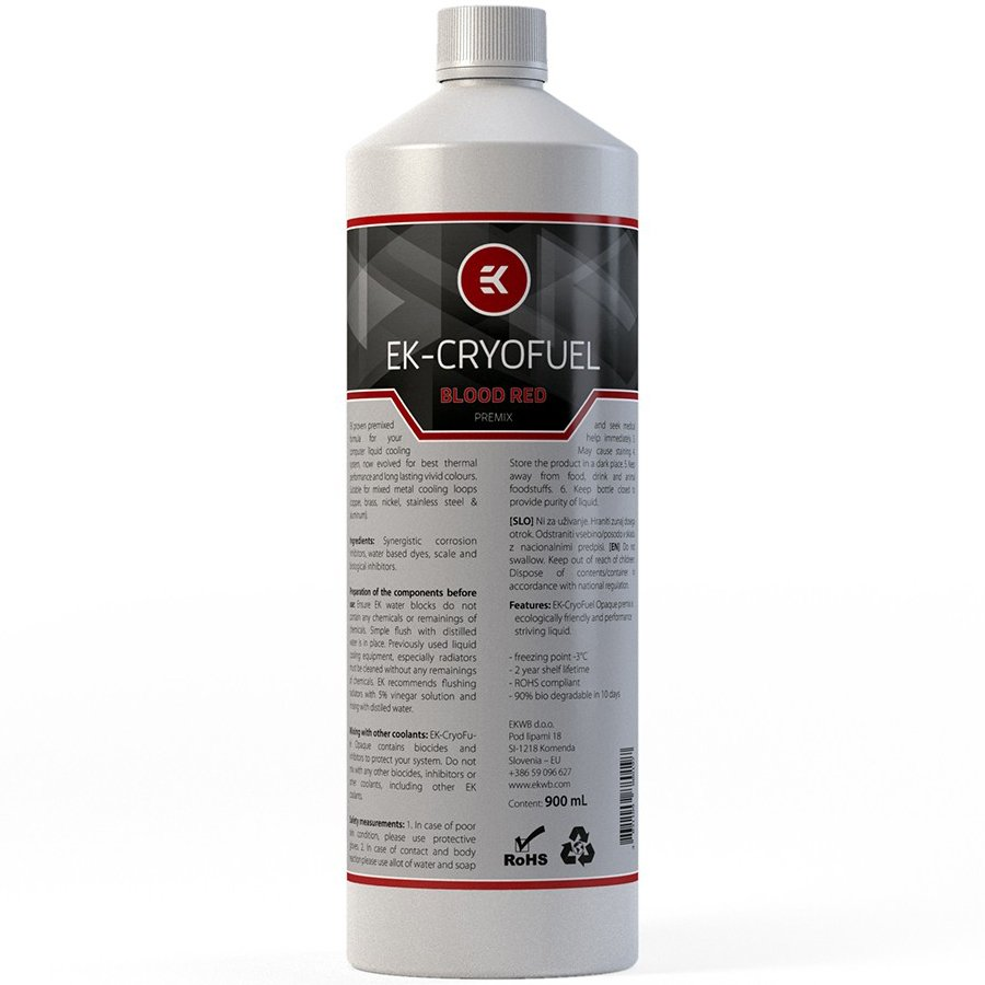 Cooling System EKWB EKWB3831109880197 EK-CryoFuel Blood Red Premix 900 mL
