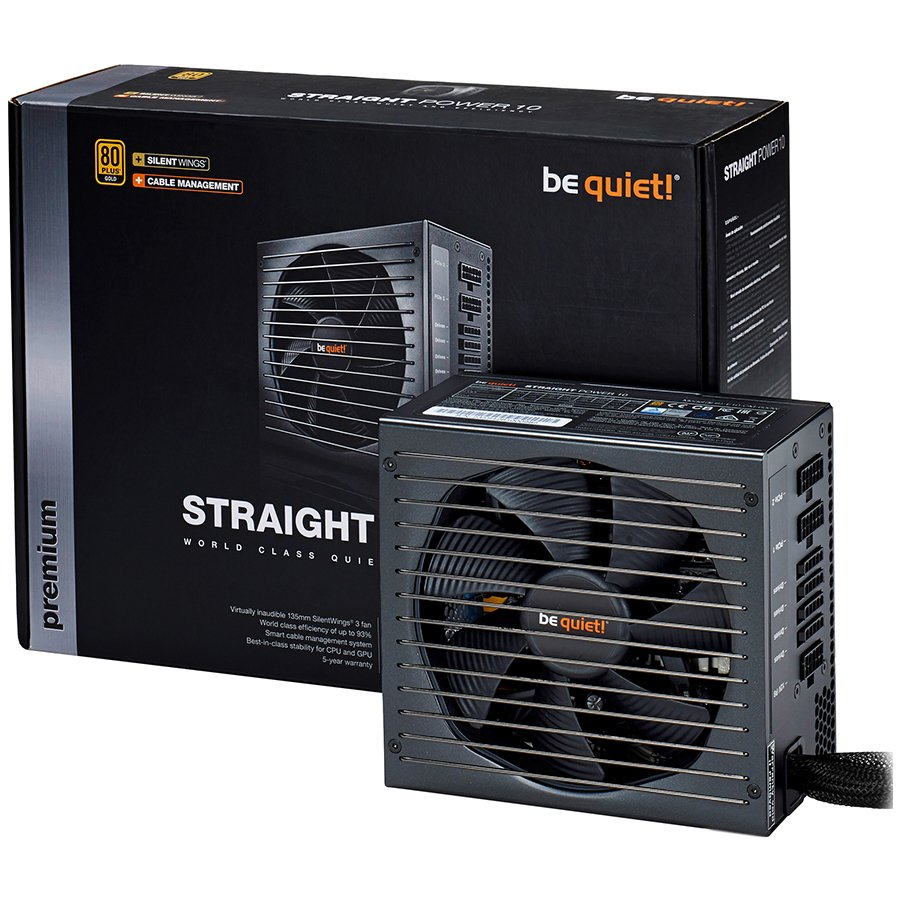 Power Supply Unit BE QUIET BN234 Be Quiet! STRAIGHT POWER 10 500W CM - 80 Plus Gold, Silent Wings, Cable Management, 5 Years Warranty