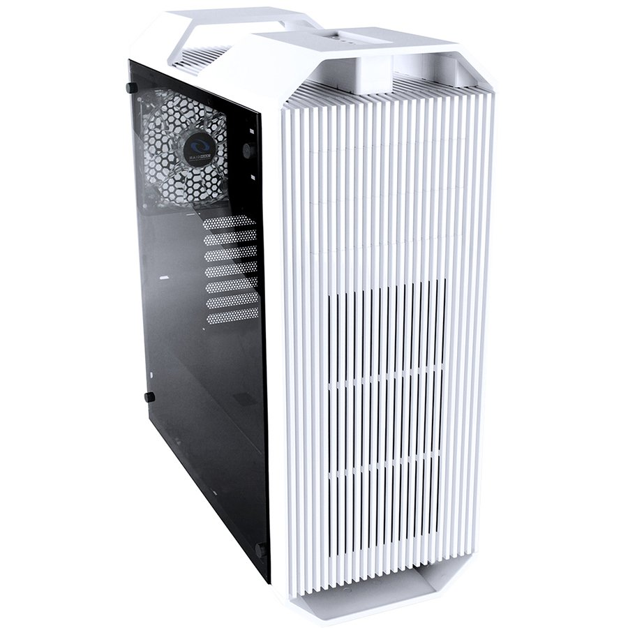 "PC Chassis RAIDMAX MONSTERII_A08TW Chassis Monster II Tower, 7 slots, 2 X 5.25"", 1 X 3.5"" H.D./ 2 x 2.5"" SSD, 2 x AUDIO / 1 x USB3.0, PSU Optional,1 X 140mm Front LED Fan, 1 x 140mm Back Black Fan, 2 X 140mm TOP fan /opt./White"