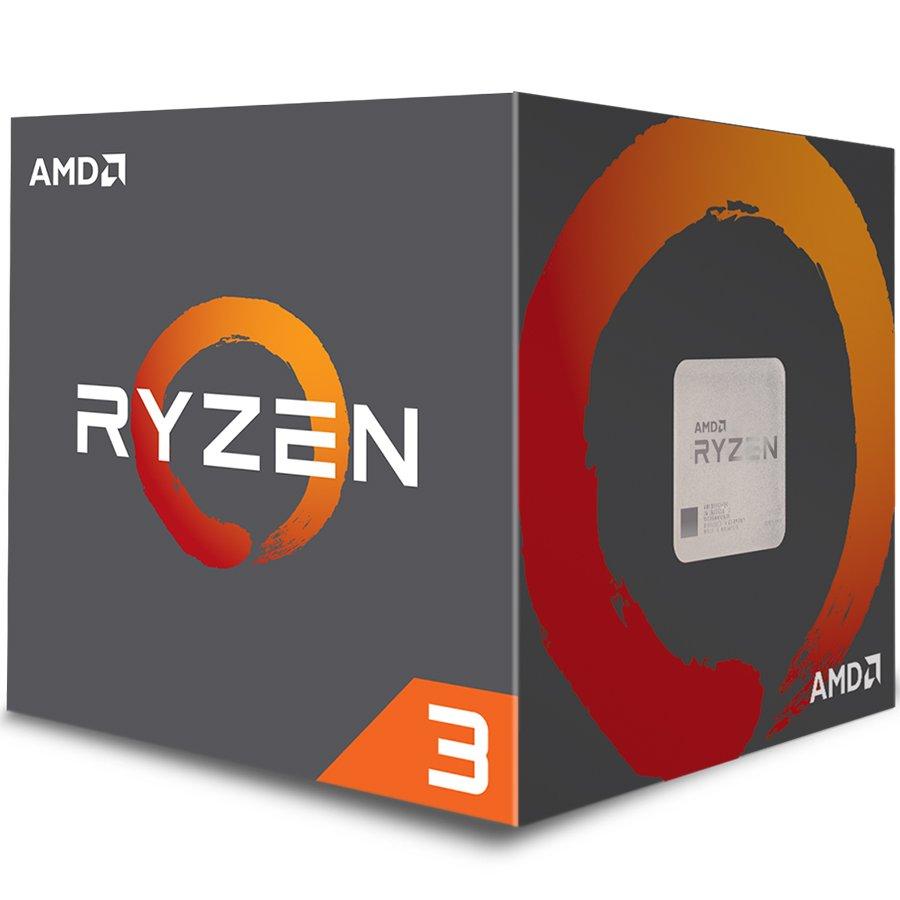 CPU Desktop AMD YD1200BBAEBOX AMD CPU Desktop Ryzen 3 4C/4T 1200 (3.1/3.4GHz Boost,10MB,65W,AM4) box, with Wraith Stealth cooler