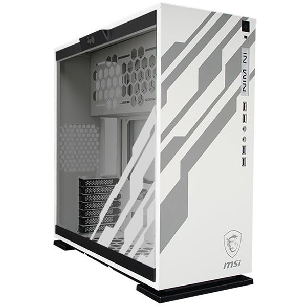 "PC Chassis IN WIN INWIN_303_MSI_DRAGON_WHITE Chassis In Win 303 RGB LED MSI DRAGON Mid Tower,Tempered Glass,SECC,ATX,Micro-ATX,Mini-ITX,2xUSB 3.0,2xUSB 2.0,HD Audio,1x120mm Rear Fan/120mm Radiator,3x120mm Top Fan/360mm Radiator,3x120mm Bottom Fan,2x3.5"",2"