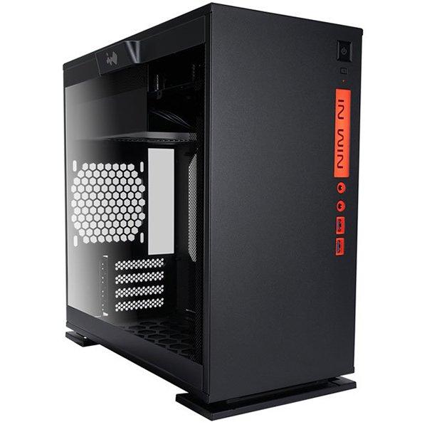 """PC Chassis IN WIN INWIN_301_BLACK Chassis In Win 301 Mini Tower,Tempered Glass,SECC,Micro-ATX, Mini-ITX,2xUSB 3.0,HD Audio,2x120mm Front Fan/240mm Radiator,1x120mm Rear Fan/120mm Radiator,2x120mm Bottom Fan(Occupy a PCI-E slot),PCI-Ex4,1x3.5""""/2.5,2x2.5"""",b"""