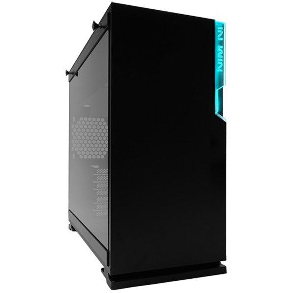 """PC Chassis IN WIN INWIN_101C_BLACK Chassis In Win 101C RGB LED Mid Tower,SECC, ABS, PC,Tempered Glass,ATX, Micro-ATX, Mini-ITX, Max:12"""" x 10.5"""",1XUSB 3.1 Gen 2 Type-C,2xUSB 3.0 HD Audio,1x120mm Rear Fan/120 mm Radiator 2x120mm Side Fan/240mm Radiator 3x12"""