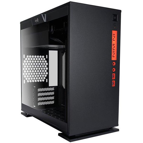 PC Chassis IN WIN INWIN_301C_BLACK Chassis In Win 301C RGB LED Mini Tower,Tempered Glass,SECC,Micro-ATX, Mini-ITX,USB3.0x2+TYPE3.1C+AUDIO(HD),2x120mm Front Fan/240mm Radiator,1x120mm Rear Fan/120mm Radiator,2x120mm Bottom Fan Occupy a PCI-E slot,PCI-Ex4,b