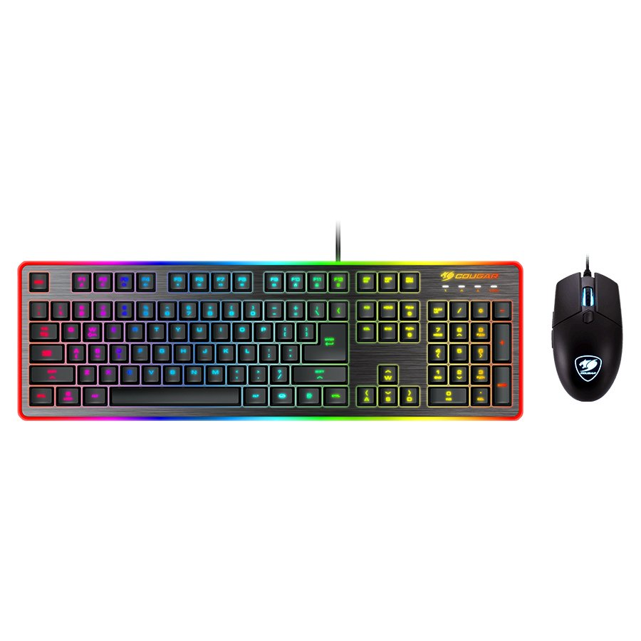 Input Devices - Keyboard Box COUGAR GAMING CG37DF2XNMB0002 COUGAR DEATHFIRE EX COMBO Gaming Keyboard with Gaming Mouse, Hybrid Mechanical (20 million keystrokes),19-Key Rollover,8 backlight effects/8 colors backlight, ADNS-5050 Optical gaming mouse sensor