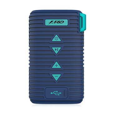 "Multimedia - Speaker FENDA W6T_BLUE Multimedia Bluetooth Speakers F&D W6T - Power output 5W, 2"" full range neodymium driver,passive radiator design,Bluetooth V4.1 audio streaming,Micro SD card,3.5mm AUX,Rechargeable Li-ion Battery,Water-proof level IPX5,b"