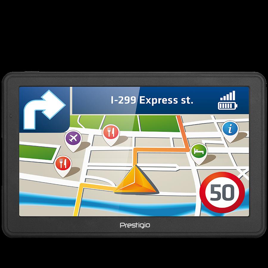 "GPS Navigator PRESTIGIO PGPS705900008GB00 Prestigio GeoVision 7059, 7""(800*480) TN display, WinCE 6.0, 800Mhz MSB2531 cortex A7, 256MB DDR, 8GB Flash, 1500mAh battery, color/Dark grey"
