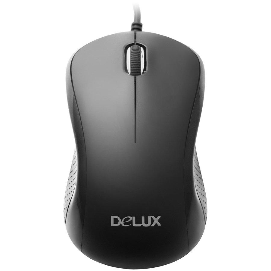 Input Devices - Mouse Box DELUX DLM-625U Input Devices - Mouse DELUX DLM-625U (Cable, Optical,7 btn,4000 dpi,USB), Black