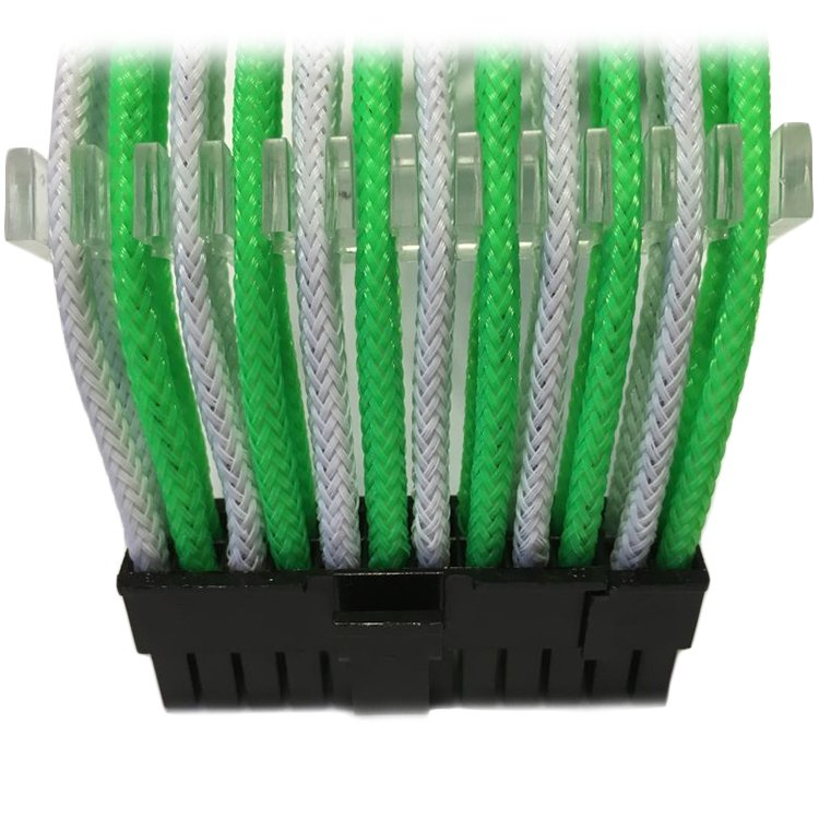 Cable GELID SOLUTIONS CA-24P-06 GELID 24pin Power extension cable 30cm individually sleeved Green/White