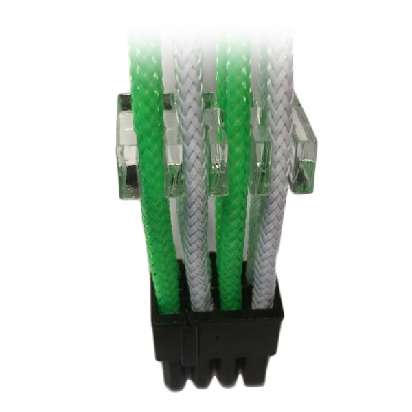 Cable GELID SOLUTIONS CA-8P-10 GELID 6+2pin VGA PCI-E 30cm individually sleeved Green/White
